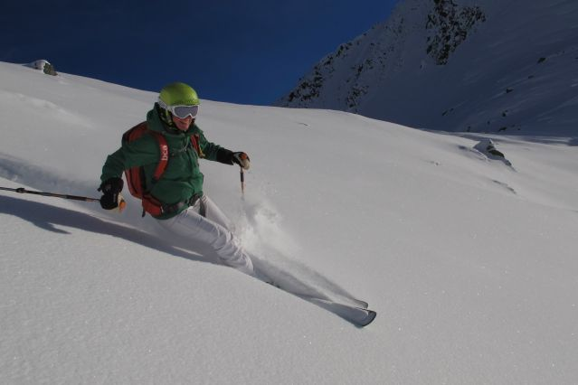 © Ski freeride Alagna Gressoney - mont Rose