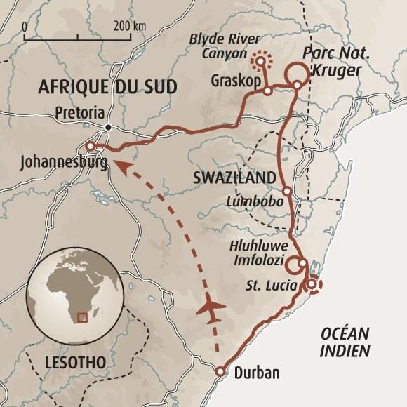 Essences sud africaines kruger swaziland et st lucia - Office du tourisme afrique du sud paris ...
