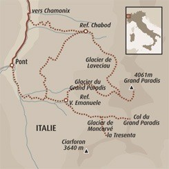 Circuit carte Italie : Objectif Grand Paradis (4061m)