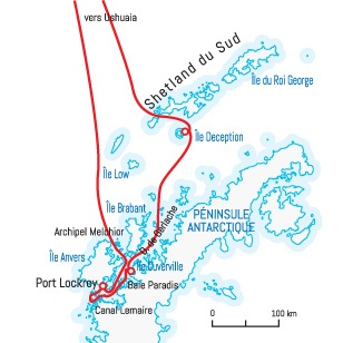 Circuit carte Antarctique : Aux confins de l'Antarctique