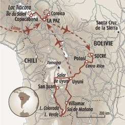 Circuit carte Bolivie : L'intégrale de la Bolivie
