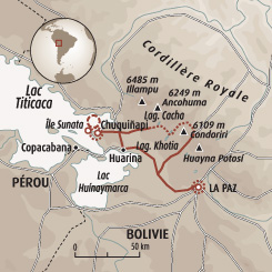 Circuit carte Bolivie : Trek en cordillère Royale