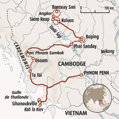 Circuit carte Cambodge : Cambodge secret, d'Angkor aux Cardamomes