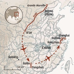 Circuit carte Chine : Chine ancestrale
