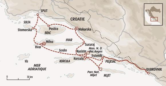 Rando et navigation sur l'Adriatique   Croatie en bateau   îles