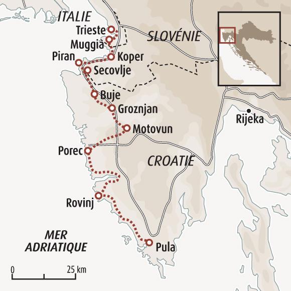 L'Istrie à vélo, charmes et secrets de Croatie   Italie à vélo