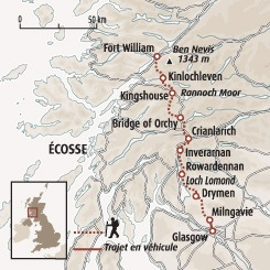 Circuit carte Ecosse : Le West Highland Way