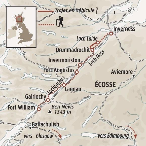 Le Great Glen Way   Randonnée Ecosse   Loch Ness, Oich et Lochy