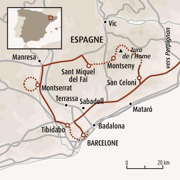 La boucle catalane, de Montserrat à Barcelone   Randonnée