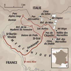 Circuit carte France : Les sentiers sauvages du Mercantour