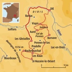 Circuit carte France : Diois, trait d'union entre Vercors et Provence