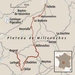 Circuit carte France : Millevaches, hautes terres limousines