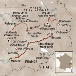 Circuit carte France : Traversée de la Vanoise