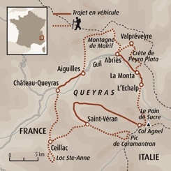 Circuit carte France : Itinérance dans le Queyras- version confort