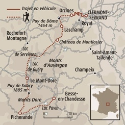 Circuit carte France : Du puy de Dôme au massif du Sancy