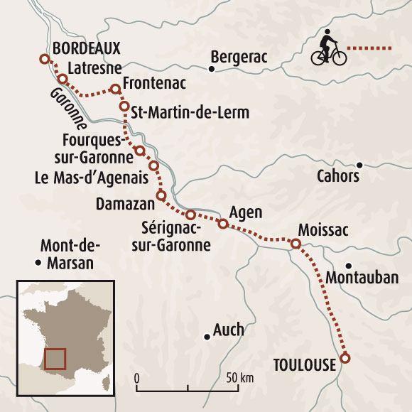 Canal de la garonne v lo de bordeaux toulouse for Balade sur la garonne toulouse