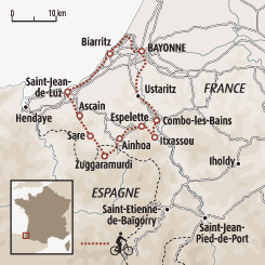 Circuit carte France : Escapade basque à vélo