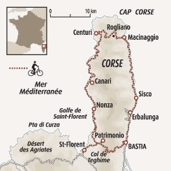 Circuit carte France : Le Cap Corse et ses tours