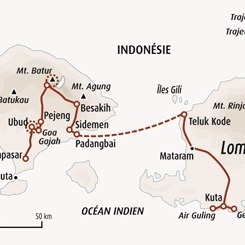 Circuit carte Indonésie : Bali - Lombok, sea, surf and trek