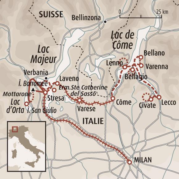 Assez Découverte des lacs italiens - Randonnée lac Majeur - Randonnée  GR15