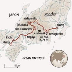 Circuit carte Japon : L'essentiel du Japon