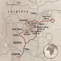 Circuit carte Kenya : Ascension du mont Kenya (4985m) et safari