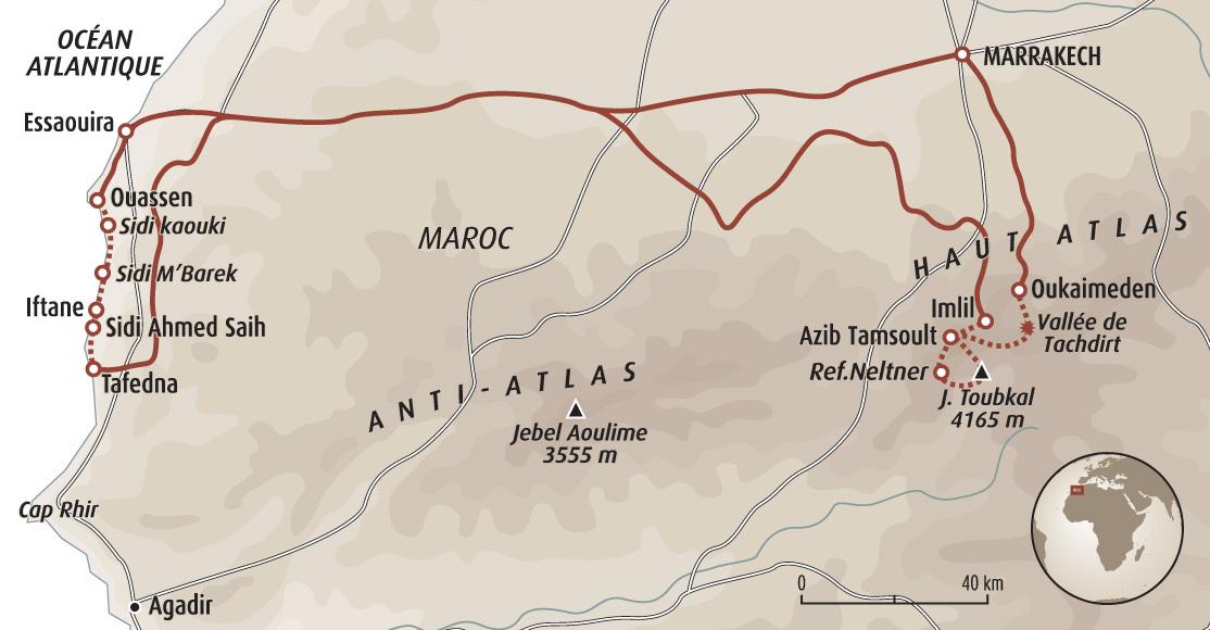 De l 39 atlas l 39 atlantique trek atlas maroc haut atlas voyage es - Demande de carte aurore ...