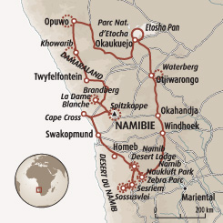 Circuit carte Namibie : Grand trek de Namibie