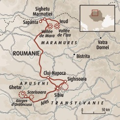 Circuit carte Roumanie : Les Carpates occidentales du Maramures aux Apuseni