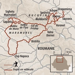 Circuit carte Roumanie : Villages des Carpates, Maramures et Bucovine
