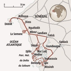Circuit carte Sénégal : Le Siné Saloum, entre charme et traditions
