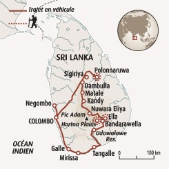 Circuit carte Sri Lanka : L'essentiel du Sri Lanka