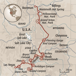 Circuit carte Etats-Unis : De Yellowstone à San Francisco
