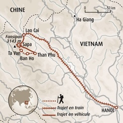 Circuit carte Vietnam : Le Tonkin, road book à la main !