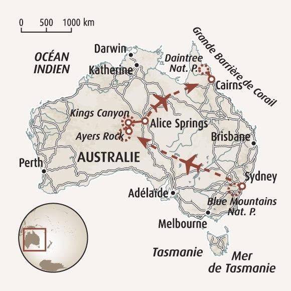 Carte Geologique Australie.Randonnee Australie Circuit Accompagne
