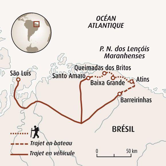 Carte Routiere Nord Bresil.Randonnee Bresil Le Desert Des Lencois Maranhenses Randonnee