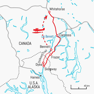 Circuit carte Canada : Chilkoot Trail ou la ruée vers l'or