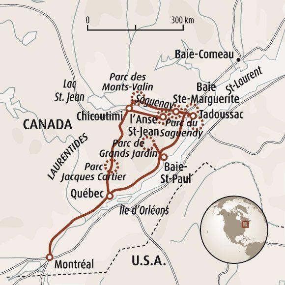 Carte Canada Chicoutimi.Canada En Famille Randonnee Famille Voyage Quebec