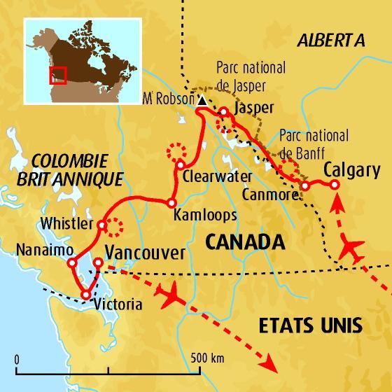 itinéraire rocheuses canadiennes