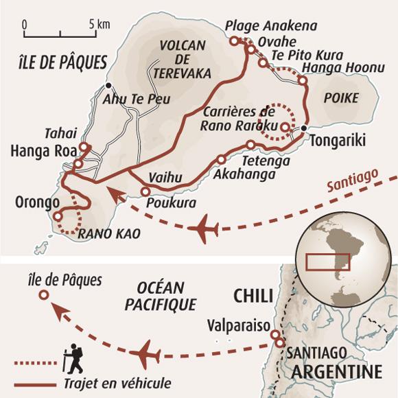 6d901e6940 Circuit carte Chili : Ile de Pâques, terre de légende