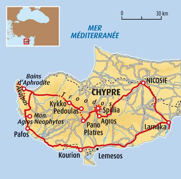 randonnée chypre circuit accompagné