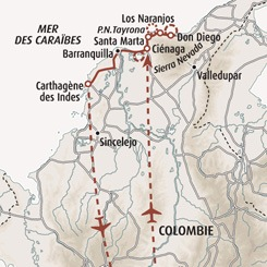 Circuit carte Colombie : Panorama colombien