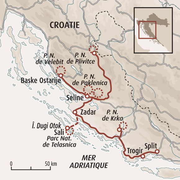 Croatie Carte Identite.Voyage Plitvice Randonnee Paklenica