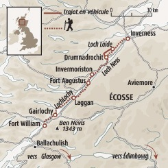 Circuit carte Ecosse : Le Great Glen Way