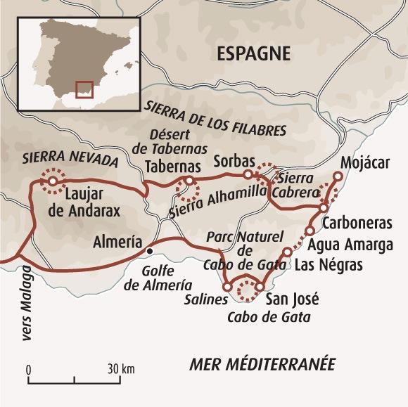 Carte Geographique Andalousie.Randonnee Andalousie Randonnee Sierra Nevada Cabo De Gata