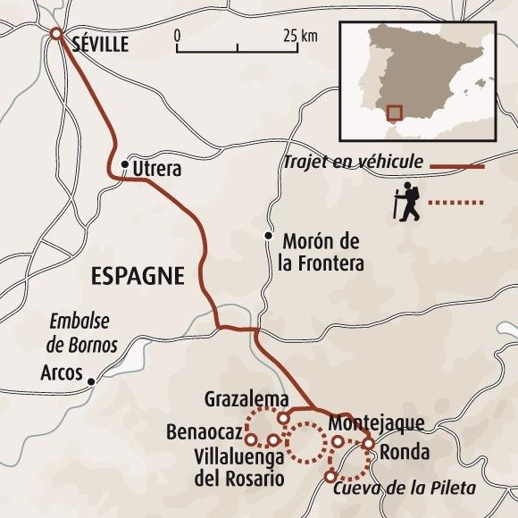 Andalousie Carte Didentite.Randonnee Andalousie Sierra De Grazalema Trek Andalousie