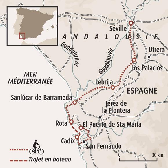 Carte Geographique Andalousie.Espagne A Velo Randonnee Andalousie