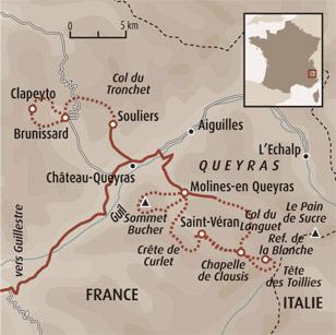 Tour Du Queyras Carte.Le Tour Du Queyras En Raquettes