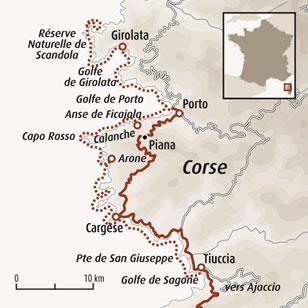Carte Corse Calanque De Piana.Kayak Corse Calanques De Piana