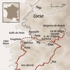 Circuit carte France : Des villages secrets au golfe de Porto